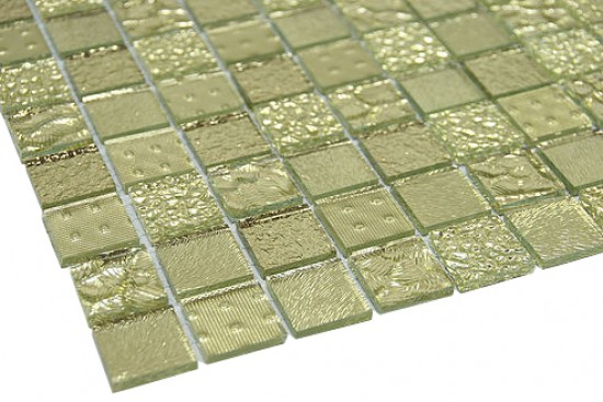 "Contemporary series golden crust 7/8"" x 7/8"" square glass mosaic tile"