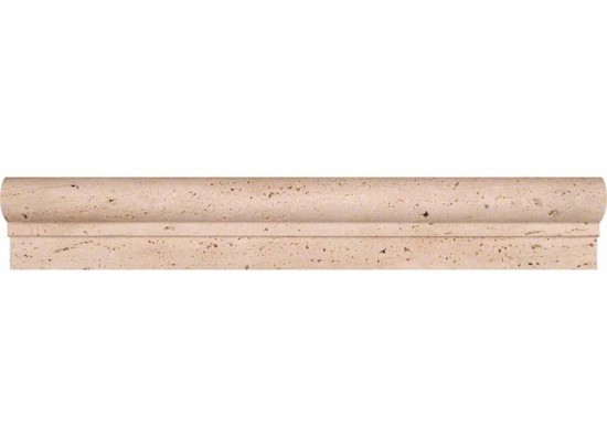 Chiaro Honed Travertine Crown Decorative Molding 2 in. x 12 in.