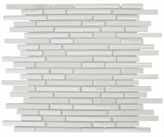 Seabrook Linear Brick Pattern Polished Mosaic Tile by Soci