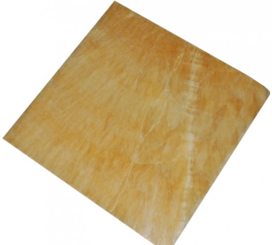 18 in. x 18 in. Premium Select Honey Onyx Solid Polished Finish Flooring Tile