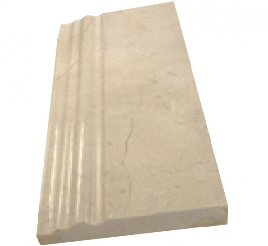 Crema marfil marble 5x12 skirting baseboard decorative polished molding trim double