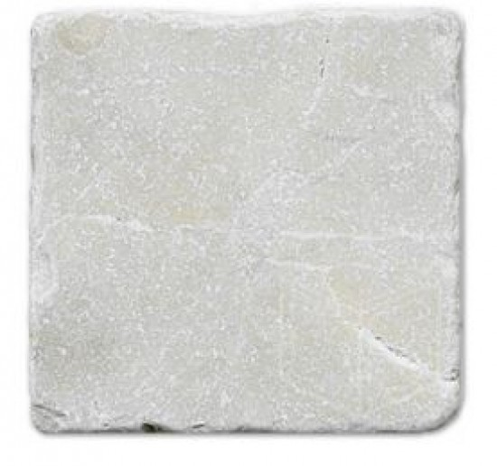12 in. x 12 in. Botticino Pearl Solid Tumbled Finish Marble Flooring Tile
