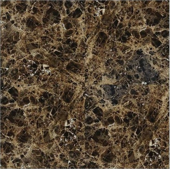 18 in. x 18 in. Emperador Dark Solid Polished Finish Marble Flooring Tile