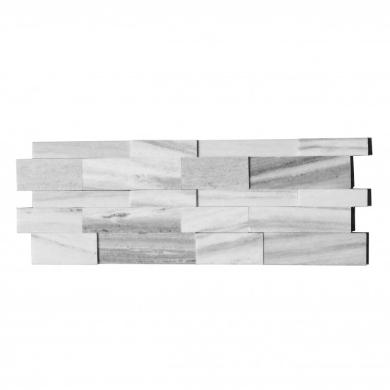 6 in. x 24 in. 3D Palissandro Honed Marble Ledger Panels Wall Tile