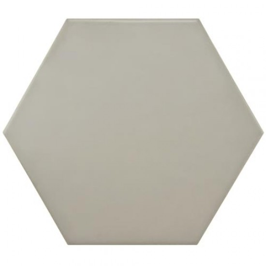 Slate Matte Hexagon 7 in. x 8 in. Porcelain Gris Floor and Wall Tile (2.2 sq. ft. / pack)