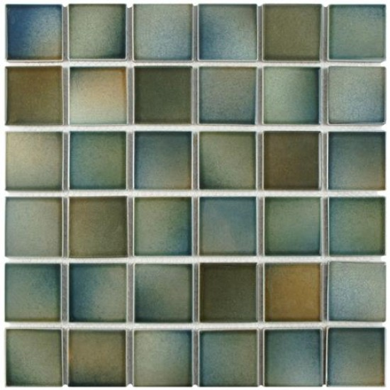 Pistachio Glossy Square 12-1/2 in. x 12-1/2 in. x 5 mm Porcelain Mosaic Tile