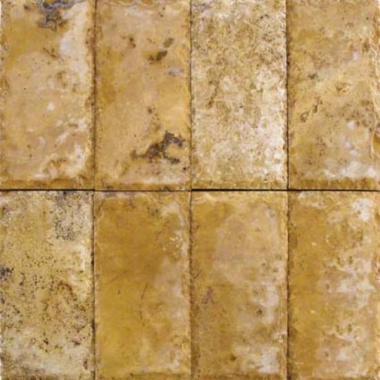6 in. x 12 in. Tuscany Riviera Chiseled Edge Travertine Paver Tile (Each Sqft. = 2 Piece)