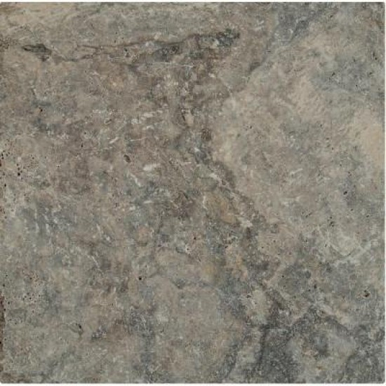 16 in. x 16 in. Silver Tumbled Travertine Paver Tile ( Each Paver Tile = 1.78 Sqft.)