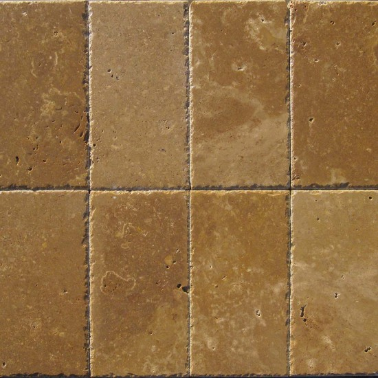 6 in. x 12 in. Tuscany Walnut Chiseled Edge Travertine Paver Tile (Each Sqft = 2 Piece)