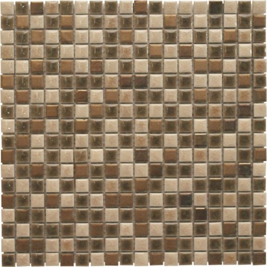 5/8 × 5/8 Halifax Blend Square Pattern Polished Mosaic Tile by Soci