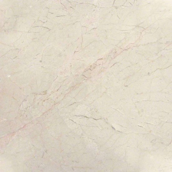 12 in. x 12 in. Crema Marfil Classic Solid Polished Finish Marble Flooring Tile