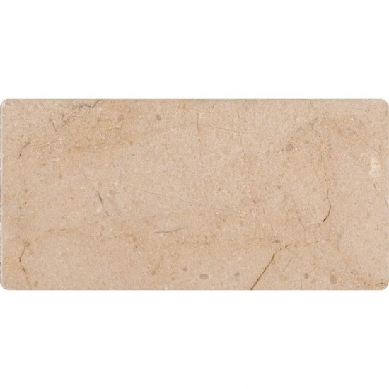3 in. x 6 in. Subway Crema Marfil Marble Polished Tile