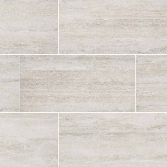6x24 Veneto White Glazed Matte Porcelain Floor and Wall Tile