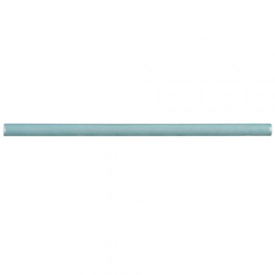 Checker Glossy Iris Demi-Bullnose 1/2 in. x 12 in. Aqua Ceramic Wall Trim Tile