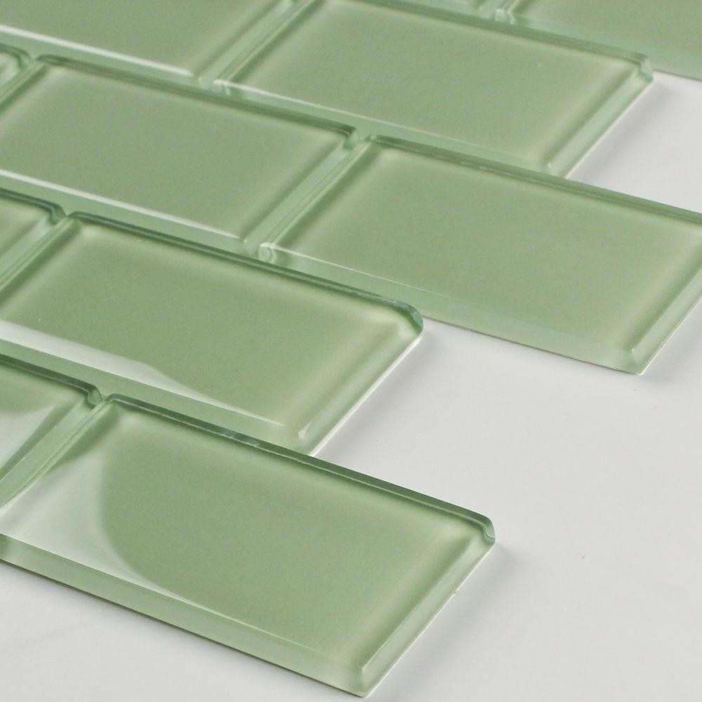 2 X 4 Mint Green Subway Glass Mosaic Tile Smot Glsst Mg8mm
