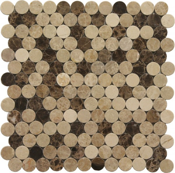 Morocco Blend Large Penny Polished Mosaic Tile for Wall & Floor