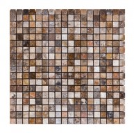 5/8 x 5/8 Scabos Travertine Square PatternTumbled Finish Mosaic Tile