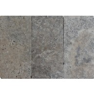 8 in. x 16 in. Silver Tumbled Travertine Paver Tile (Each Tile = 0.889 sqft.)