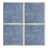 Province Blue Glossy Glazed 6x6 Porcelain Tile for Pool, Wall and Backsplash