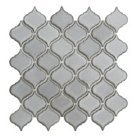 10.25x10.50 Arabesque Grey Small Porcelain Mosaic Tile | Pool Rated Tile | Shower | Swimming Pools | Pool Liners | Exterior Wall