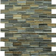 1x2 new trend art grey glass mosaic tile