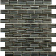 1x2 new trend art black glass mosaic tile