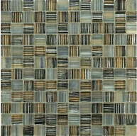 New Trend Art Grey Mist 1 x 1 Glass Mosaic Tile