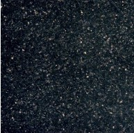 12 in. x 12 in. Black Galaxy Classic Solid Polished Finish Granite Flooring Tile