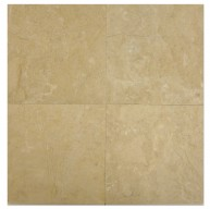 12 in. x 12 in. Bursa Beige Solid Brushed Finish Marble Flooring Tile