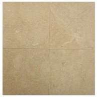 12 in. x 12 in. Bursa Beige Standard Solid Honed Finish Marble Flooring Tile
