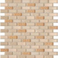 Vintrav corn silk 1/2 in. x 2 in.glass bricks pattern mosaic tile