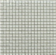 5/8 in.x 5/8 in.Quantum snow flake glass mosaic tile - square pattern