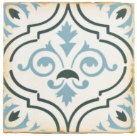 Madrid Matte Sapphire Flower Square 4-7/8 in. x 4-7/8 in. Ceramic Floor and Wall Tile (5.9 sq. ft. / case)