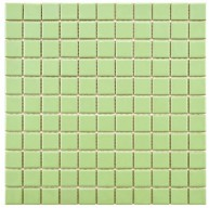 Cityside Matte Pear Square Pattern 11.75 in. x 11.75 in. x 5 mm Porcelain Mosaic Tile (10 sq. ft. / case)