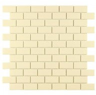 Cityside Glossy Cream Brick 11-3/4 in. x 11-3/4 in. x 5 mm Subway Porcelain Mosaic Tile (9.6 sq. ft. / case)