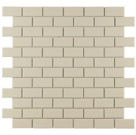 Cityside Matte Tortilla Brick 11-3/4 in. x 11-3/4 in. x 5 mm Subway Porcelain Mosaic Tile (9.6 sq. ft. / case)
