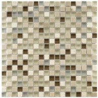 Gypsy Mixed Linen Square 11-3/4 in. x 11-3/4 in. x 8 mm Stone and Glass Mosaic Wall Tile