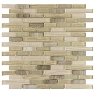 Gypsy Mixed Peanut Random Strip 11-3/4 in. x 12 in. x 8 mm Glass and Stone Mosaic Wall Tile