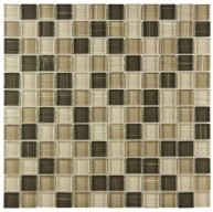 Gypsy Glossy Multi Square 11-5/8 in. x 11-5/8 in. x 8 mm Breeze Glass Mosaic Tile