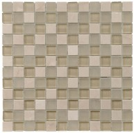 Gypsy Mixed Multi Square 11-3/4 in. x 11-3/4 in. x 8 mm Sandstone & Glass Mosaic Tile