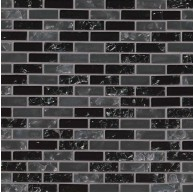Glissen 12 in. x 12 in. x 6 mm Mini Brick Crystallized Glass Mosaic Tile