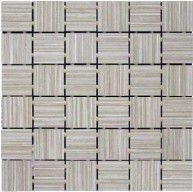 Linen 2 in. x 2 in. Taupe Glazed Porcelain Mosaic Tile | Roca Tile | Bathroom | Kitchen | Accent Wall | Living Room