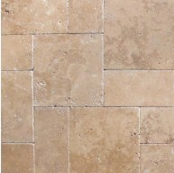 16 in. x 24 in. Tuscany Chocolde Tumbled Travertine Paver Tile (Each Tile = 2.67 Sqft.)