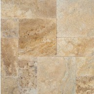 12 in. x 12 in. Tuscany Porcini Tumbled Travertine Paver Tile (Each Tile = 1 Sqft.)