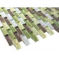 Crystile Green Glass Mosaic Tile - Tile Size: 1/2