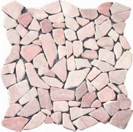 Cracked Joint Buff Marble Pebble Pattern Flat Finish  Mosaic Tile
