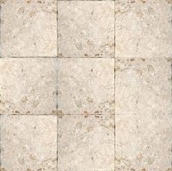 4x4 Tuscany Classic Travertine Square PatternTumbled Finish Mosaic Tile