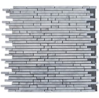 Italian White Carrara Marble Bullet Pattern Polished Mosaic Tiles