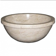 16 in. Contemporary Round Desert Gold Marble Vessel Style Drop In or Above Vanity Bathroom Sink