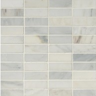 1x3 Arabescato White Carrara Marble Brick Pattern Honed Mosaic Tile